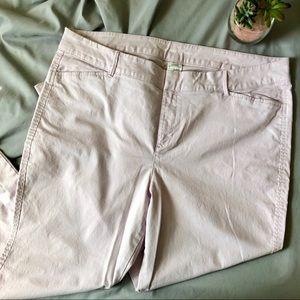 Old Navy Pixie Ankle Pants 16 Lavender Cotton